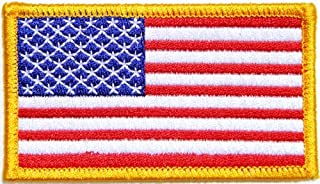 panicha flag patch Gold Border UNITED STATES US USA American Flag Team Military Army Biker Jacket T shirt Uniform Patch Sew Iron on Embroidered Badge Sign Costume