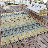 alfombra turquesa y amarillo