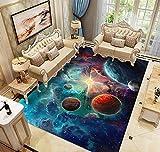 Alfombras Dormitorio Juvenil Chico Infantiles Niño Juegos 3D Gamer Galaxia Alfombras De Habitacion Rectangular Lavables Pelo Corto Vinilicas Grandes Pequeñas Alfombras Salon (Colore,120x160 cm)