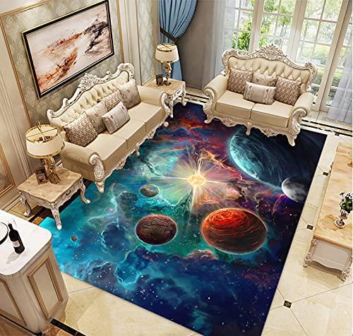Alfombras Dormitorio Juvenil Chico Infantiles Niño Juegos 3D Gamer Galaxia Alfombras De Habitacion Rectangular Lavables Pelo...