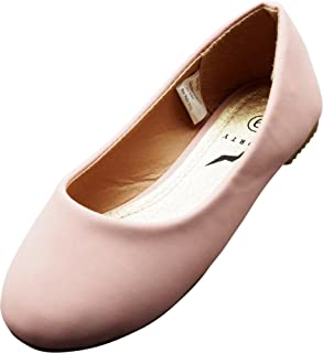 NORTY Girls Fashion Ballerina Ballet Slip On Flat Shoe Sizes Toddler to Big Kids Patent, Nubuck, Glitter