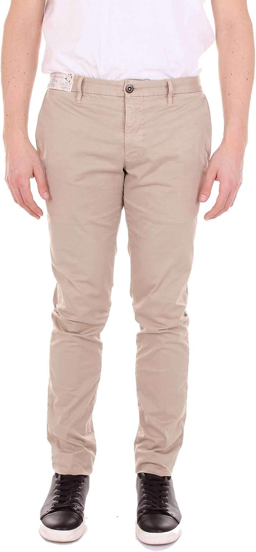 INCOTEX Men's 1ST69190664BEIGE Beige Cotton Pants