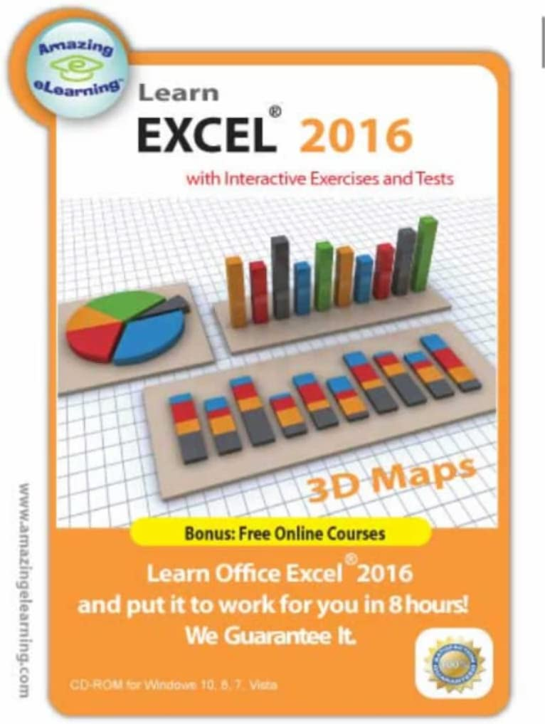 Learn Microsoft SEAL limited product Excel Max 60% OFF 2016 Training Course Interactive CD