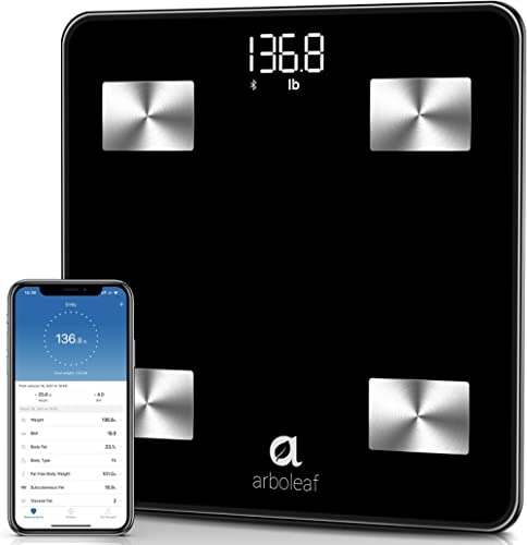 arboleaf Smart Scale, Weight Scale Bluetooth Bathroom Scale, 10 Body Composition, iOS Android APP, Unlimited Users, A...