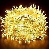 Luci LED Batteria, Hoteril 15M Catena Luminosa a 130 LED 8 Modalità, Impermeabile IP65 Stringa Luci LED da Esterni ed Interni, Decorare Casa, Albero, Giardino, Festa, Matrimonio, Bar, Natale