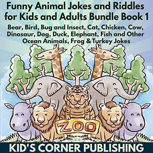Funny Animal Jokes and Riddles for Kids and Adults Bundle Book 1 audiobook cover art