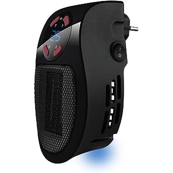 Taurus Tropicano Plug Heater Mini cerámico portátil, Ligero y Compacto, Calefactor sin Cable, termostato programable, 2 intensidades de caudal, Modo enfriamento, 500 W, Negro: Amazon.es: Hogar