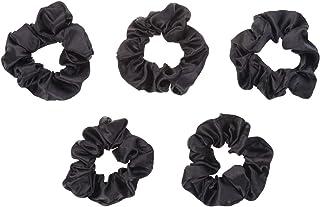 Lurrose サテンの髪のくしゃみ髪の弾性ネクタイくすぐりバンドポニーテールホルダーヘッドバンド5個