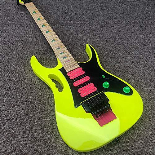 MLKJSYBA Guitarra Guitarra Eléctrica Cuello De Pintura Amarillo 5 Hechizos, Mango Portátil De Acero Acústico Guitarras De Cuerda Guitarras acústicas (Color : Guitar, Size : 41 Inches)