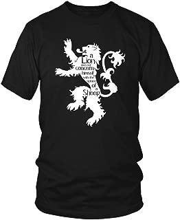 LOGOPOP Men's A Lion Does Not Concern HimselfÉ T-Shirt