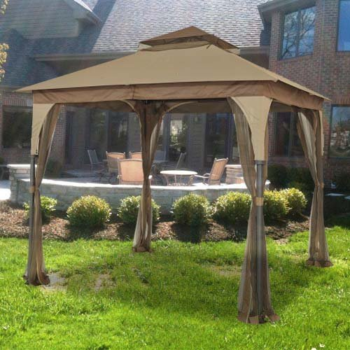 Garden Winds Replacement Canopy for L-GZ375PST-3 Gazebo - 350 - Beige