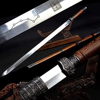 Rosewood Chinese Kungfu Sword Full Tang High Carbon Steel Double Edge Sharp Home Decorate Gift Real Taichi Wushu Han Jian