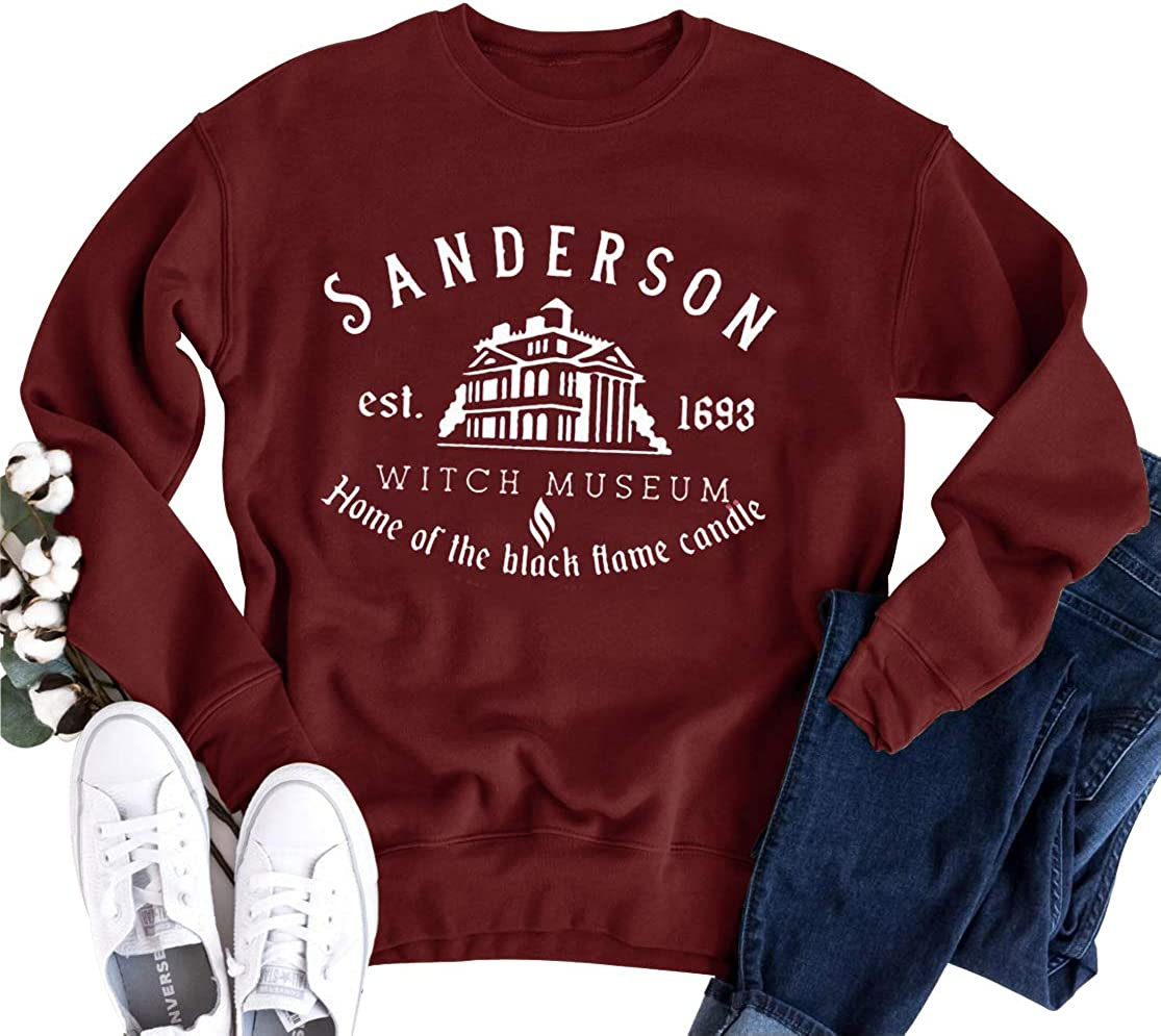 Sanderson Sisters Witch Museum Halloween Home Of Black Flame Candle Jumper Gift