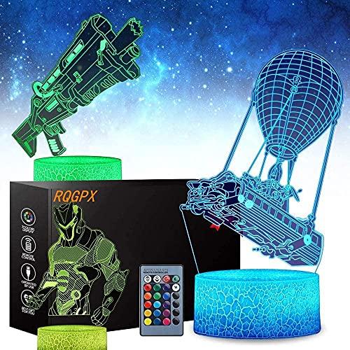 Lámpara de ilusión 3D de autobús de batalla lámpara de ilusión óptica de cumpleaños regalos de Navidad para niños niñas adultos hogar bar decoración