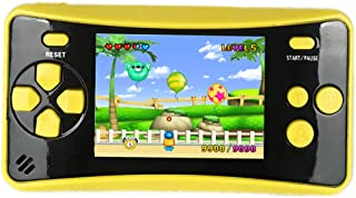 HigoKids Handheld Game Console for Kids Portable Retro Video Game Player Built-in 182 Classic Games 2.5 inches LCD Screen Family Recreation Arcade Gaming System Birthday Present for Children-Yellow