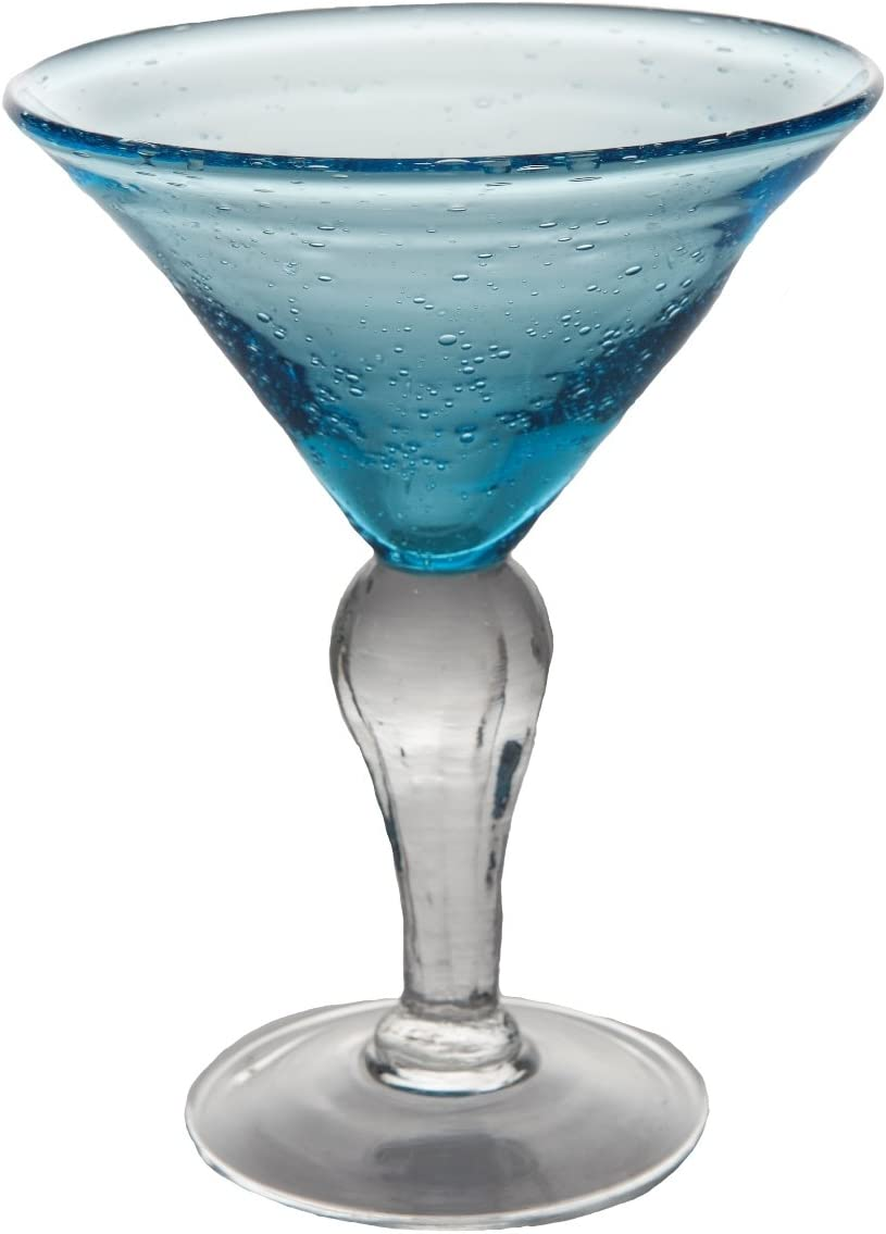 Abigails St. Remy Quantity limited Bubble Martini Glass Sea Blue 8-Ounce Be super welcome