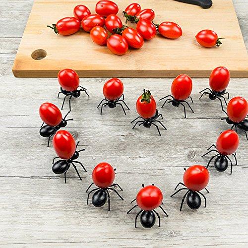 Chichome Set mit 24 lustigen und originellen Ameisenspießen, wiederverwendbar, für Snacks, Würstchen, Käse, Varianten, Pfannkuchen, Design auf Ihrem Tisch