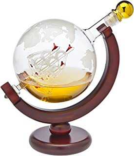 Whiskey Decanter Globe - for Liquor, Scotch, Bourbon, Vodka or Wine - 850ml