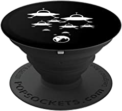 Alien Spaceships Landing On The Earth UFO Fun Gift PopSockets Grip and Stand for Phones and Tablets