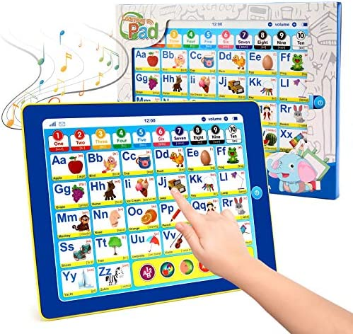 BEAURE Toddler Learning Tablet with ABC Words Numbers Color Games Music Interactive Educational product image