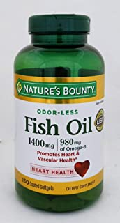 Nature's Bounty Fish Oil 1400 mg, 130 Coated Softgels