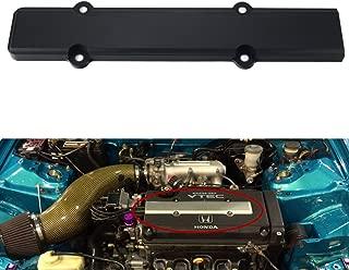 Dewhel JDM Aluminum Spark Plug Cover fit B-Series VTEC Honda Civic B16 B18 (Black)