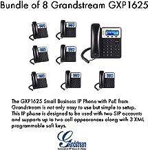 Grandstream GXP1625, 2 SIP acct., SMB IP Phone, Multi-language PoE Bundle of 8