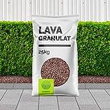 CM-Gartendesign Lavamulch - Lavagranulat rot/braun für Pflanzen 1-5000 kg inkl. Versand (25 Liter)