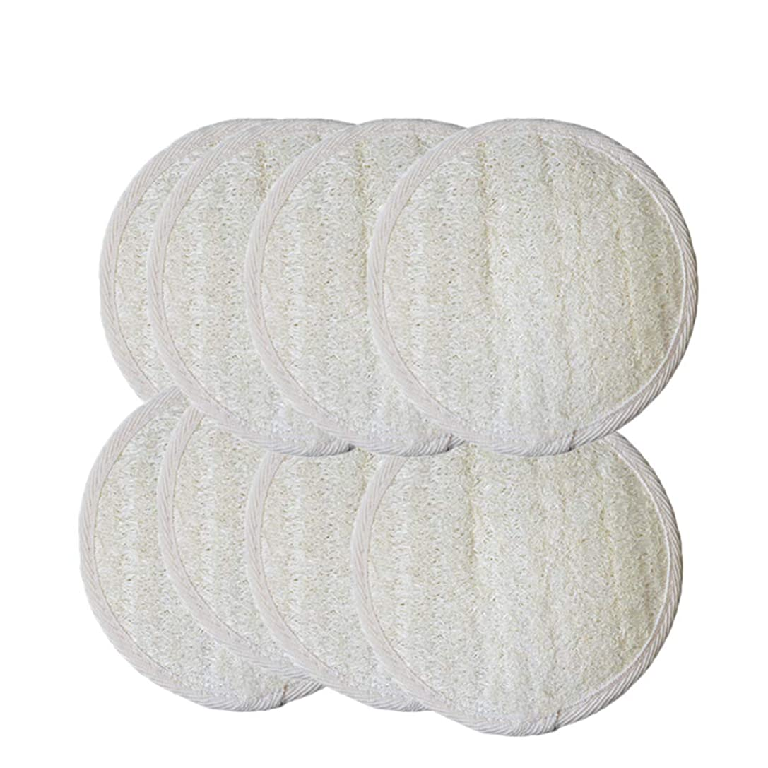補正チーズ精巧なSUPVOX ボディースポンジ 天然ヘチマ 角質取りスクラブスポンジ 角質除去 美肌効果 血行促進 風呂スポンジ 8枚セット