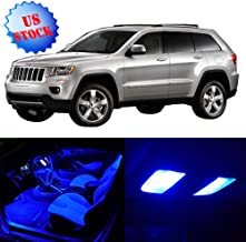 SCITOO LED Interior Lights 10pcs Blue Package Kit Accessories Replacement for 1998-2004 Jeep Grand Cherokee