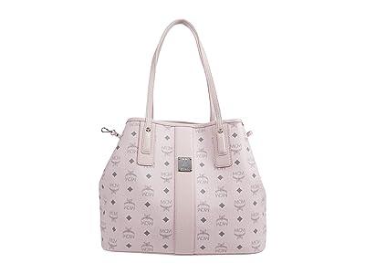 MCM Shopper Project Visetos Shopper Medium (Powder Pink) Handbags