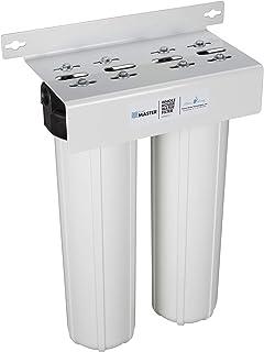 Home Master HMF2SdgC Sistema de filtración de agua para toda la casa con 2 etapas de sedimento y carbono, blanco