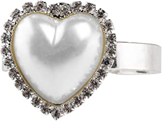 Tinksky 12pcs Napkin Rings for Dinners Parties Wedding Valentine's Day Banquet - Heart Shaped Napkin Holder (Silver)