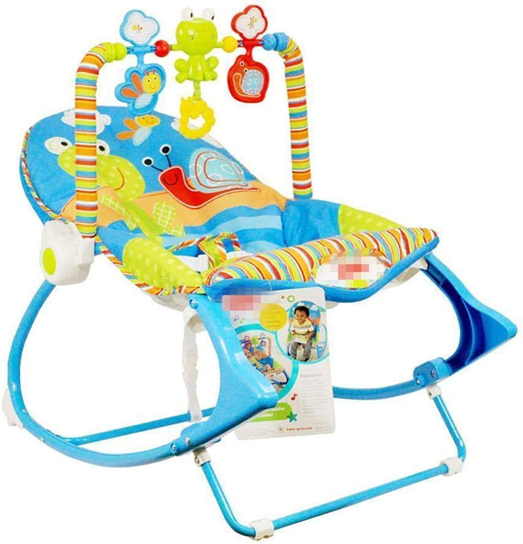 con 60% de descuento GZ Silla Mecedora para Bebés, Silla Silla Silla Eléctrica Multifuncional con Vibración de Sonido Vibración Ligera para Niños Reclinable de Masaje Reclinable Silla Giratoria,Azul,1  conveniente