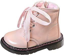 Botines Niña de Cordones Acogedor Botas de Nieve de Niñas Botas de Martin Estilo Británico Zapatos de Bebé Invierno de Algodón Botines Infantiles Estilo Simple
