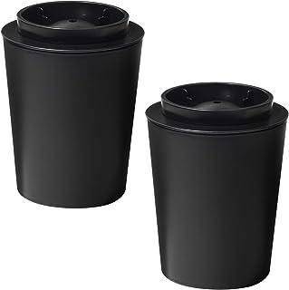 like-it(like-it)制冰盘黑色 约直径11×高14cm 可制作透明圆形冰块的制冰器 (2个装) (日本制) STK-08L 2P