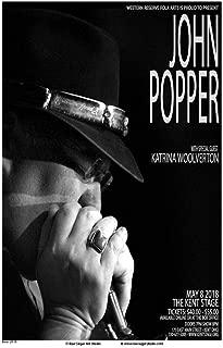 Raw Sugar Art Studio John Popper/Blues Traveler 2018 Kent Ohio Concert Poster