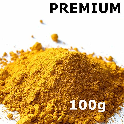 Pigmentpulver, Eisenoxid, Oxidfarbe - 100g (29,90€/kg) im Beutel Farbpigmente, Trockenfarbe für Beton, Epoxidharz + Wand - Farbe: gelb