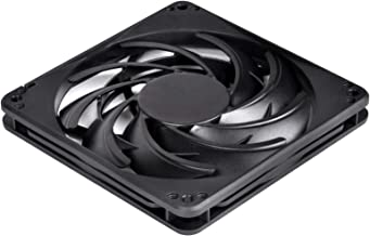 SilverStone Technology SST-FN124 120mm Fan with Slim 15mm Design with 3-Pins in Black FN124