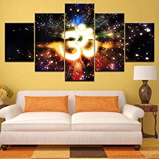 TYUIOP Canvas painting 5 pieces of wall art modular picture canvas printing 5 sets/piece of Muslim Islam Bible font poster...
