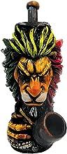 Rasta Scar Lion Smoking Pipe - Handmade Tobacco Pipe - Hand Pipe - Smoking Bowl - Collectibles - Animal Pipe - Reggae - Rastafarian - King