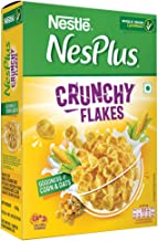 Nestlé NesPlus Breakfast Cereal - Crunchy Flakes with Corn & Oats, 250g Box