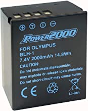 Power2000 Fully Decoded BL-H1 Battery for Olympus OM-D E-M1 Mark II, OM-D E-M1X, BCH-1, HLD-9 Cameras