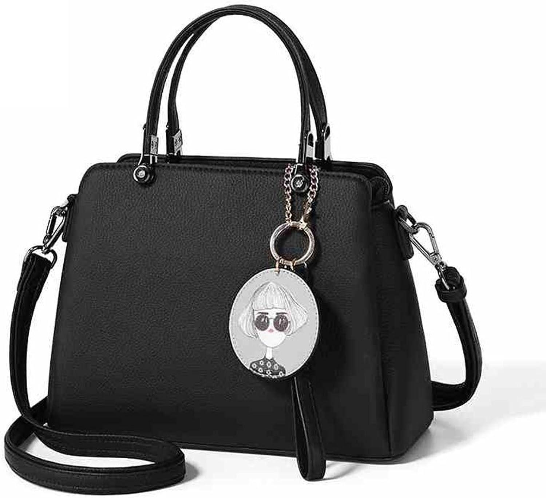 damen Handtaschen, Schulter Handtaschen Tote Crossbody Taschen für Frauen Elegant Design Fashion Casual Pure Farbe (Farbe   A) B07DW7F714