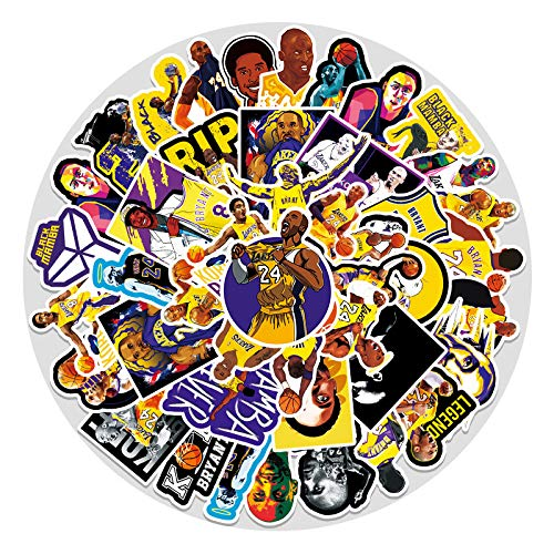 YZFCL Basketball Star Kobe Doodle Sticker Luggage Scooter Car Motorcycle Guitar Waterproof Sticker 51Pcs