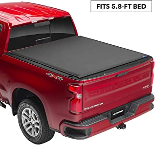 Lund 96892 Genesis Elite Roll Up Truck Bed Tonneau Cover for 2007-2018 Silverado & Sierra 1500, 2500 HD, 3500 HD | Fits 5.5' Bed