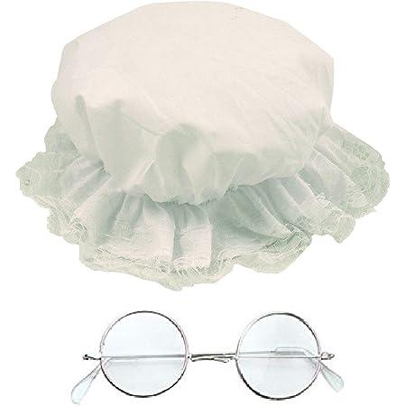 MOP cap OLD LADY Book Week GOLD RIM GLASSES FANCY DRESS Victorian