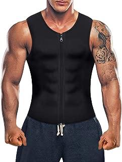Men Hot Neoprene Sauna Suit Waist Trainer Vest Corset Body Shaper Zipper Tank Top Workout Shirt