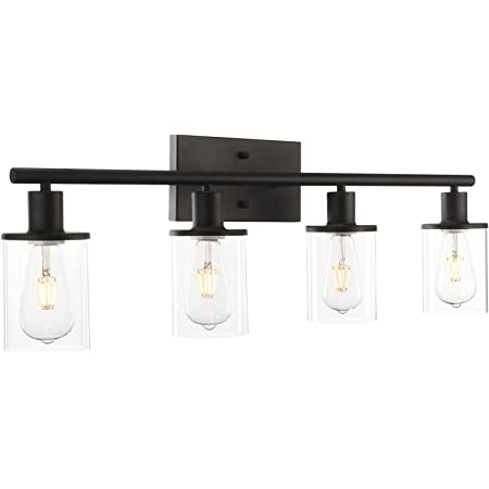 Vanity Light Fixtures Industrial Wall Mount Light Sconces Black with Highlight