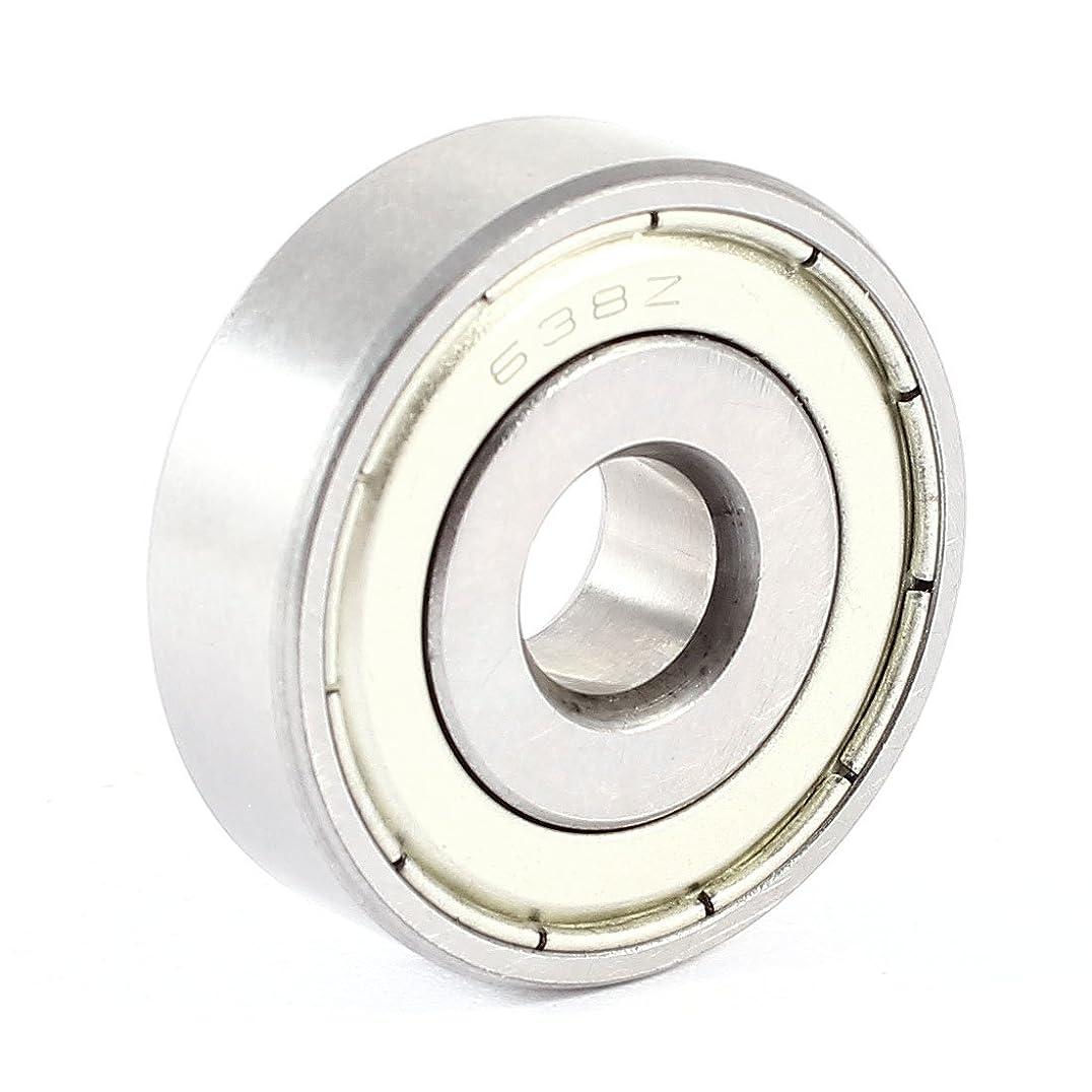 つづり実用的めったにuxcell 深溝玉軸受638Z  ベアリング メタル シルバー 1個入り 8mmx28mmx9mm